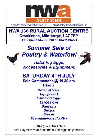 J36 Poultry Catalogue by North West Auctions - issuu