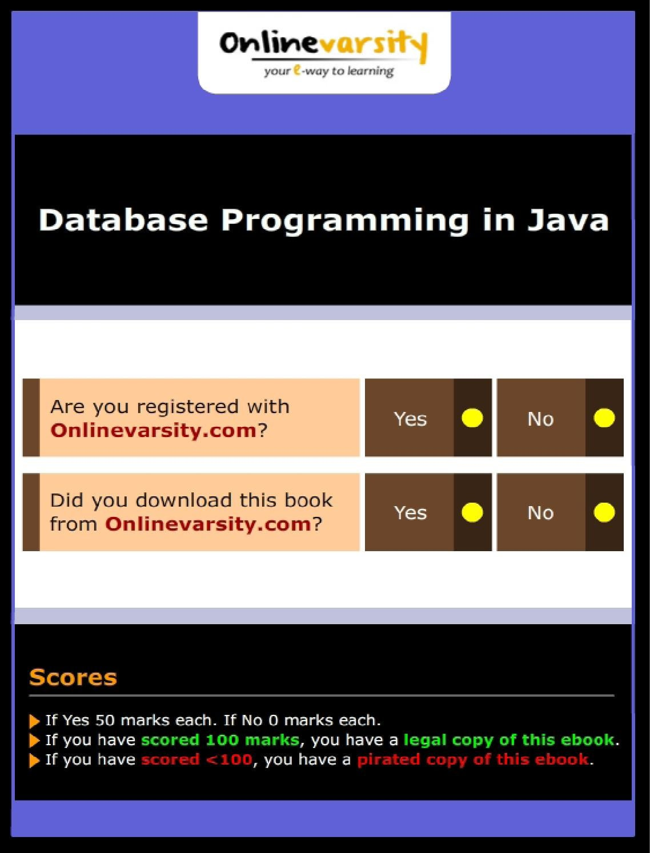 Database programming in java intl by Karla Turilcirt - issuu