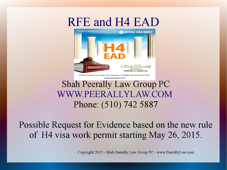 H4 EAD Possible RFE by Lawyer Shah Peerally shah@peerallylaw com - issuu