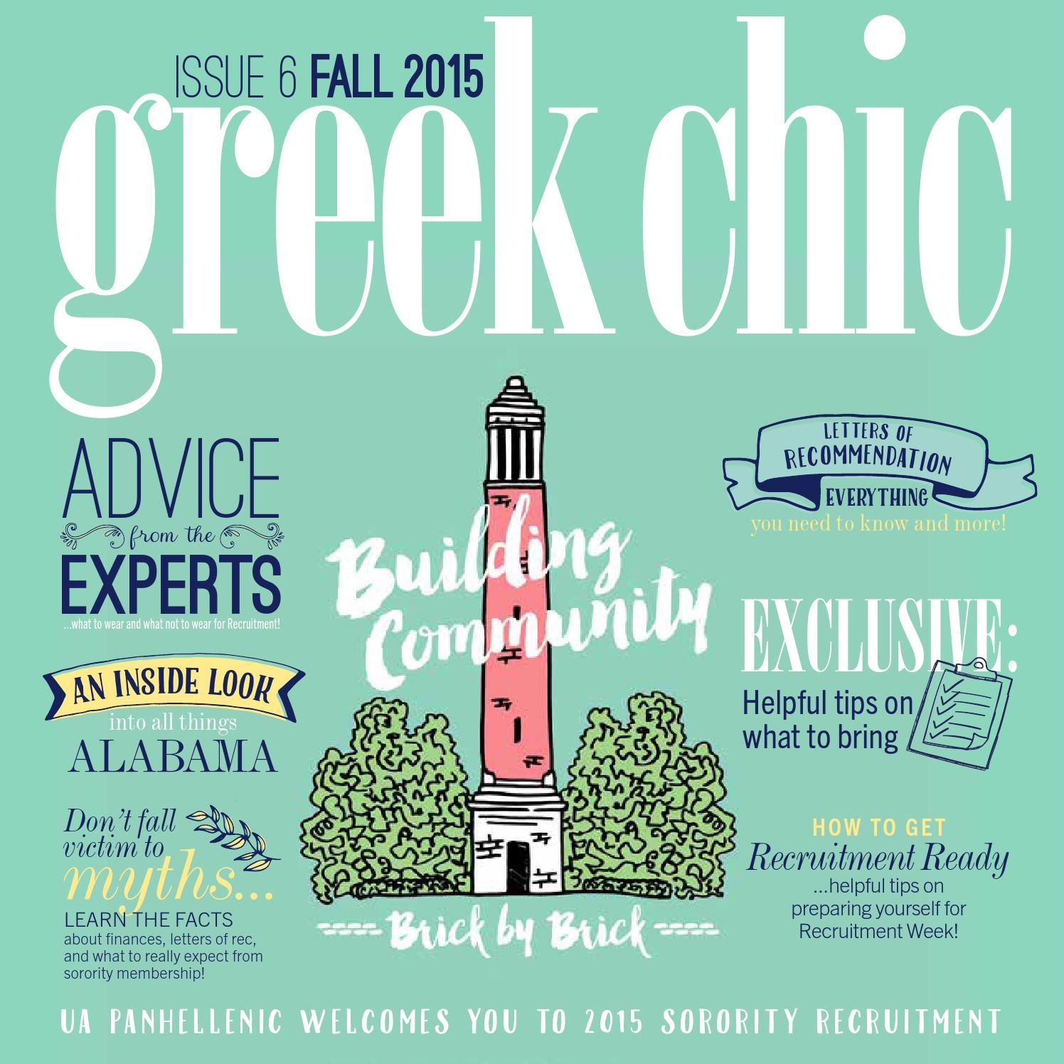 University of Alabama Greek Chic 2015 by Alabama Panhellenic Association -  issuu