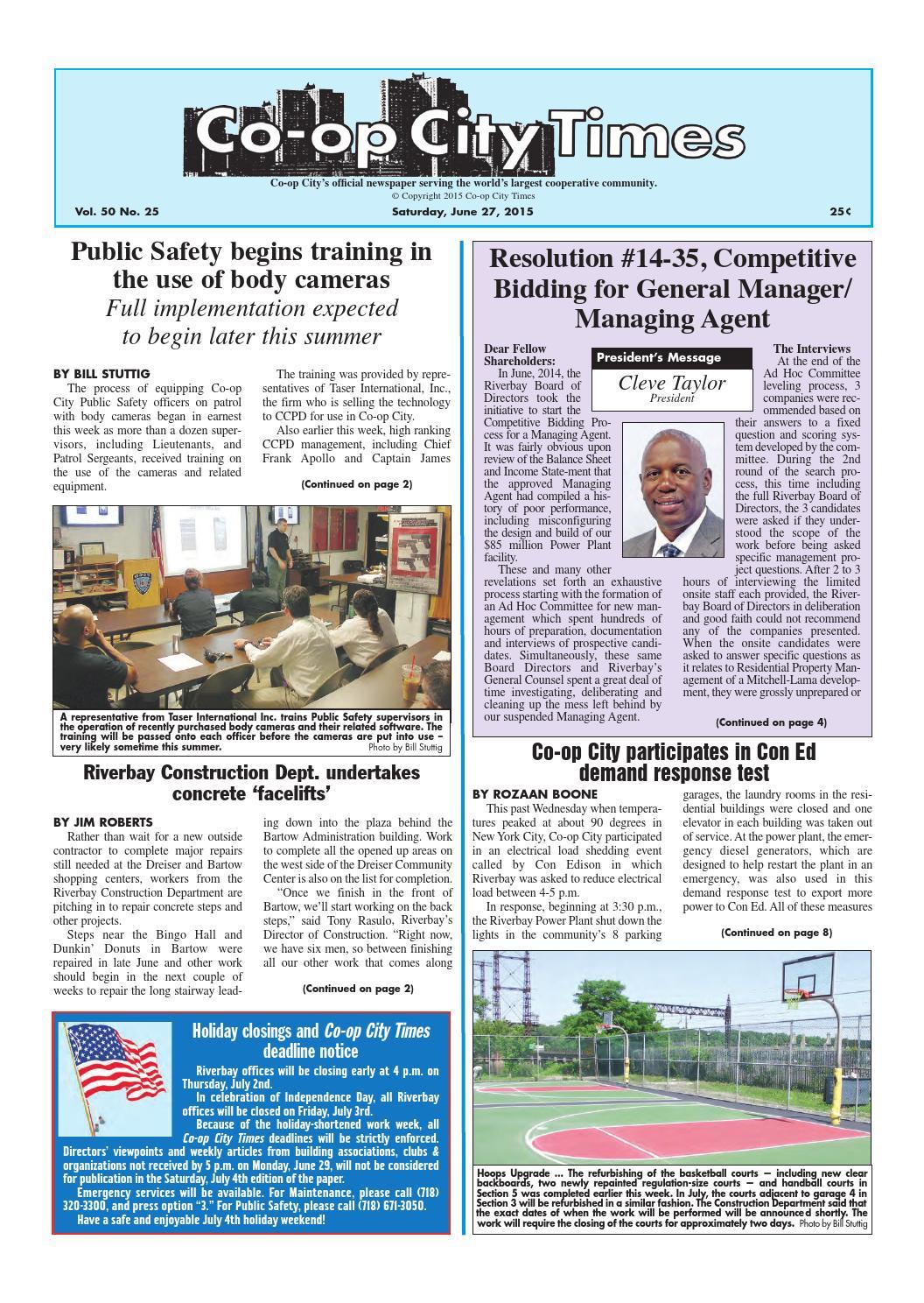 Co-op City Times 06/27/15