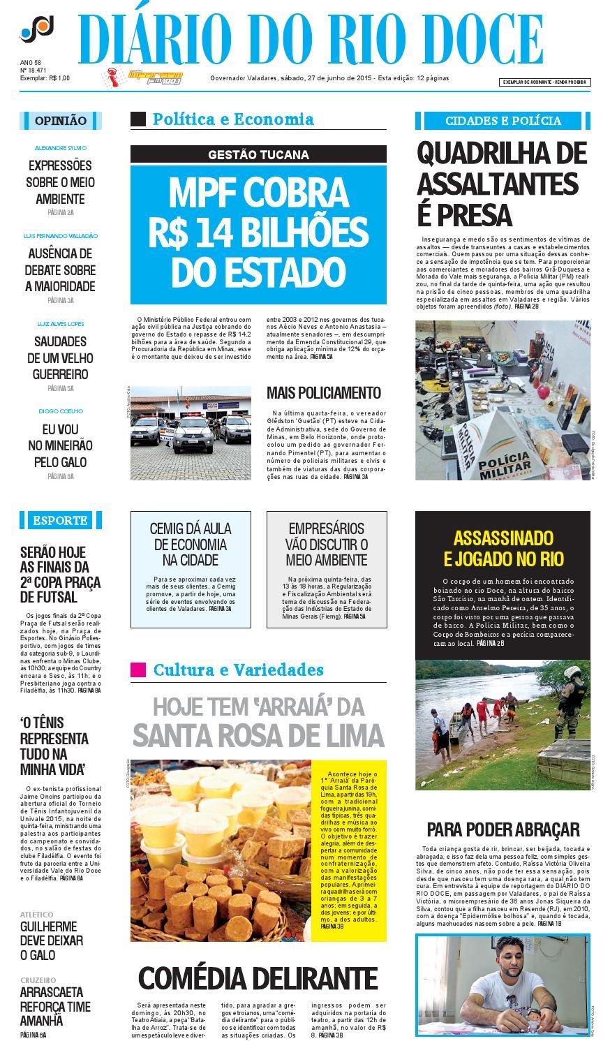 Diário do Rio Doce - Edição de 27 06 2015 by Diário do Rio Doce - issuu 9b982dbba8