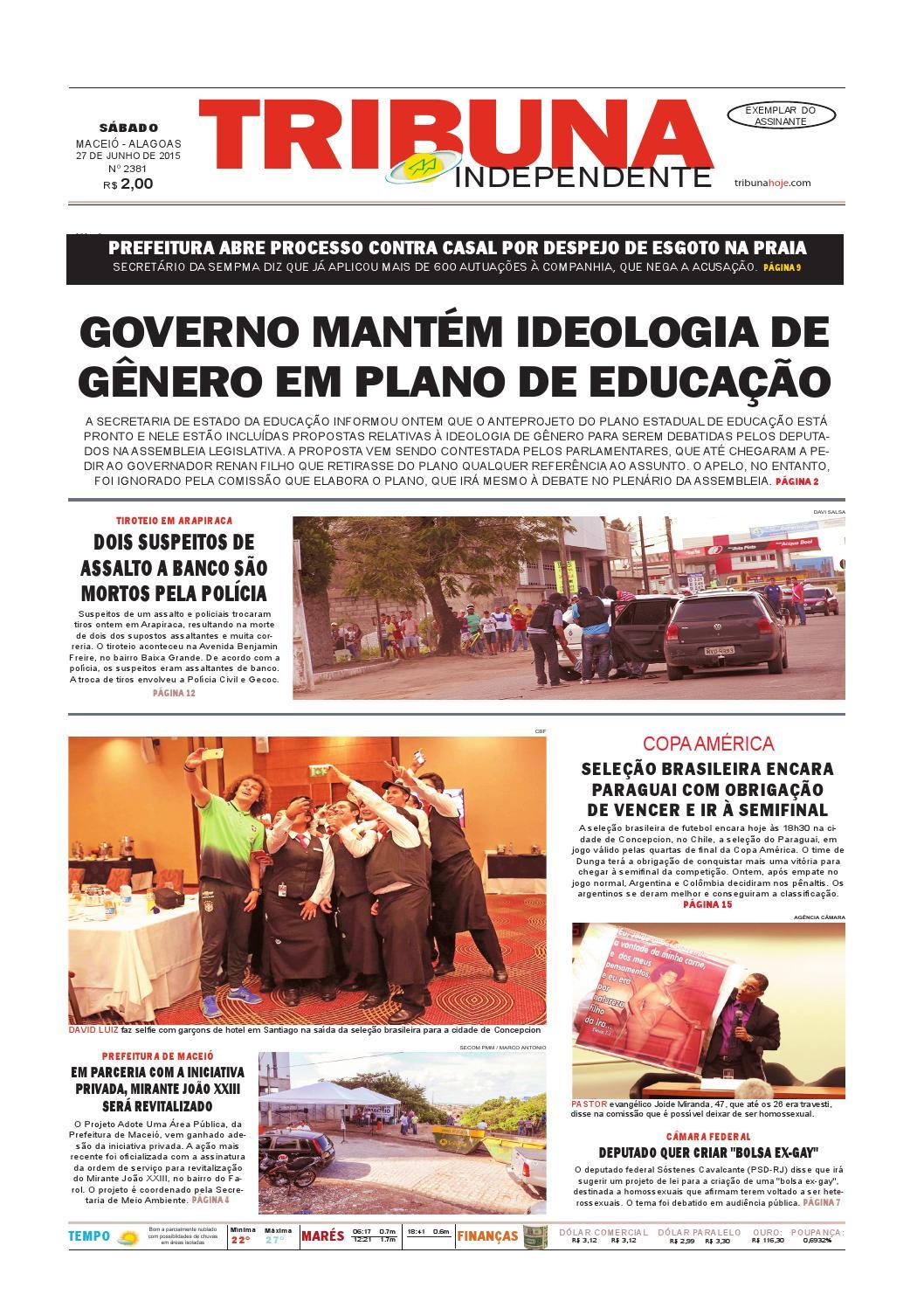 352ff6fca8abe Edição número 2381 - 27 de junho de 2015 by Tribuna Hoje - issuu