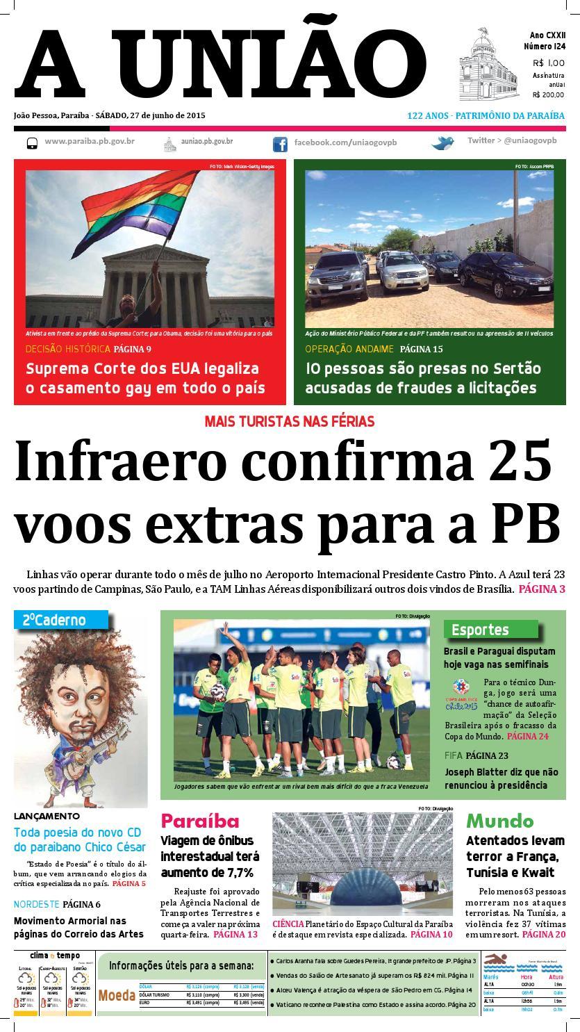 Jornal A União - 27 06 2015 by Jornal A União - issuu 7f78e261fcf