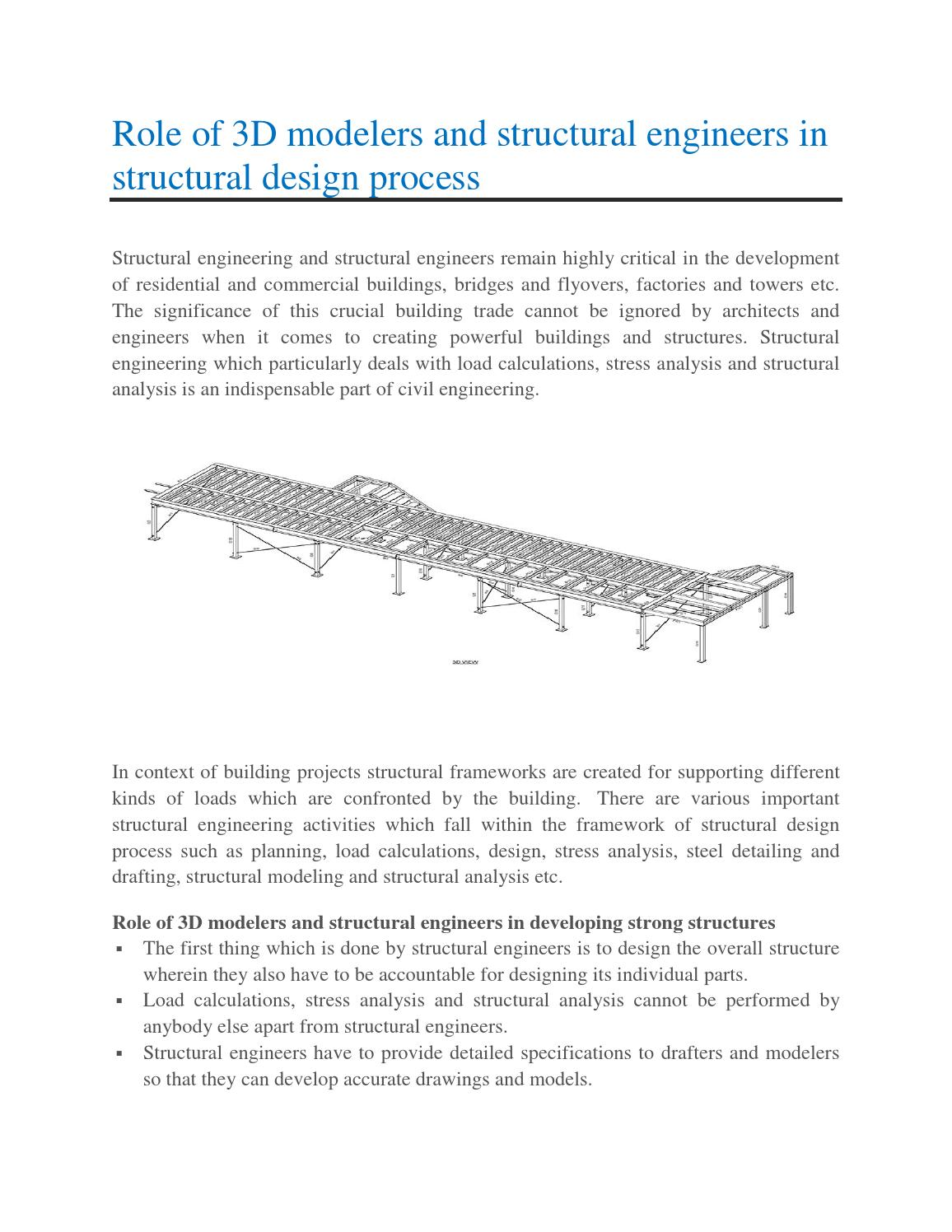 Role of 3d modelers and structural engineers in structural