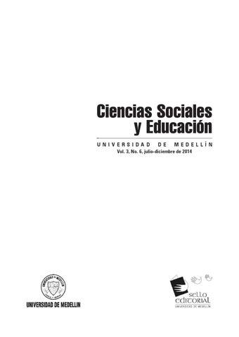 Ciencias Sociales y Educación No. 6 by Hilderman Cardona Rodas - issuu e9c55448a4f0