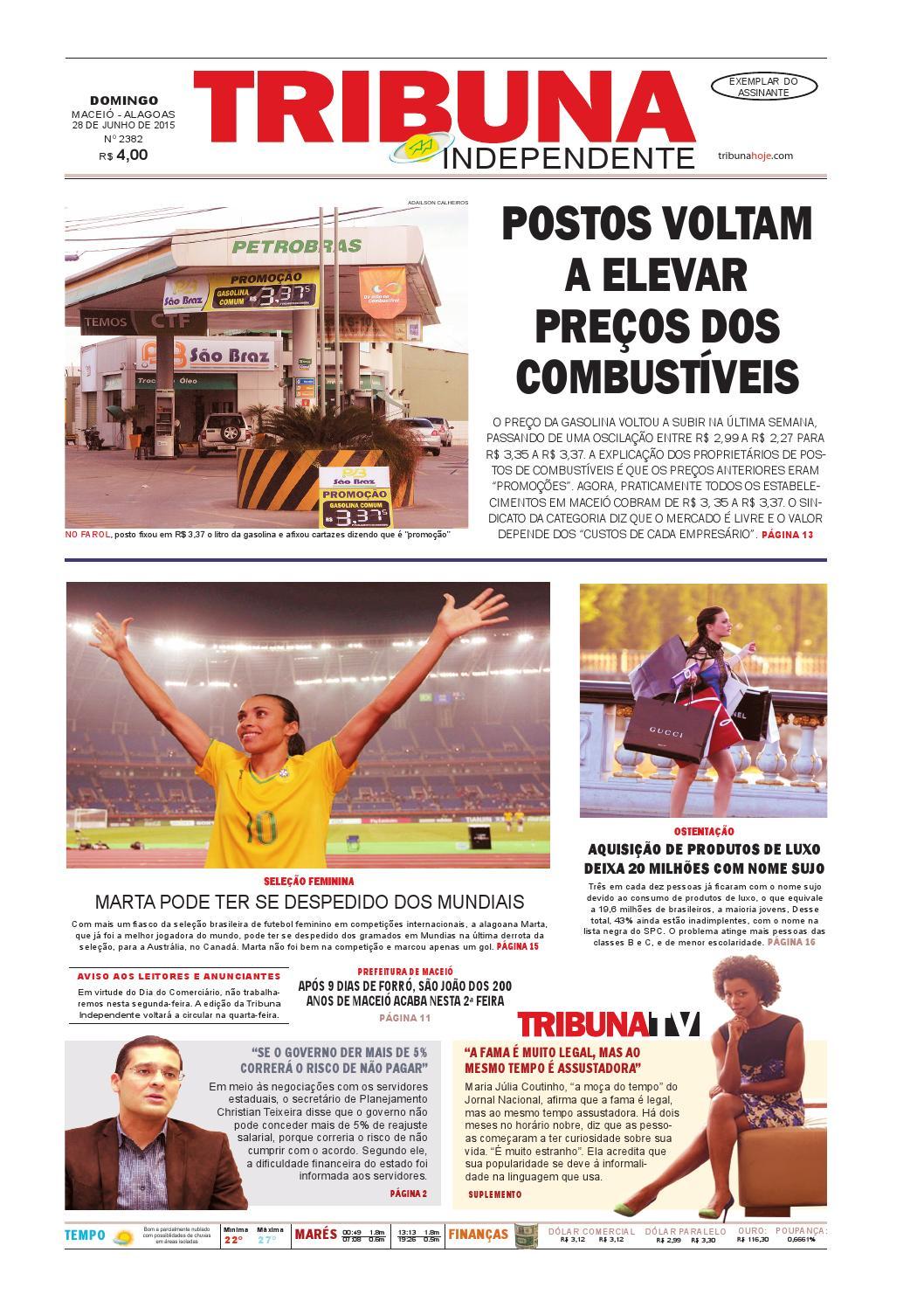 Edição número 2382 - 28 de junho de 2015 by Tribuna Hoje - issuu e613e93847796
