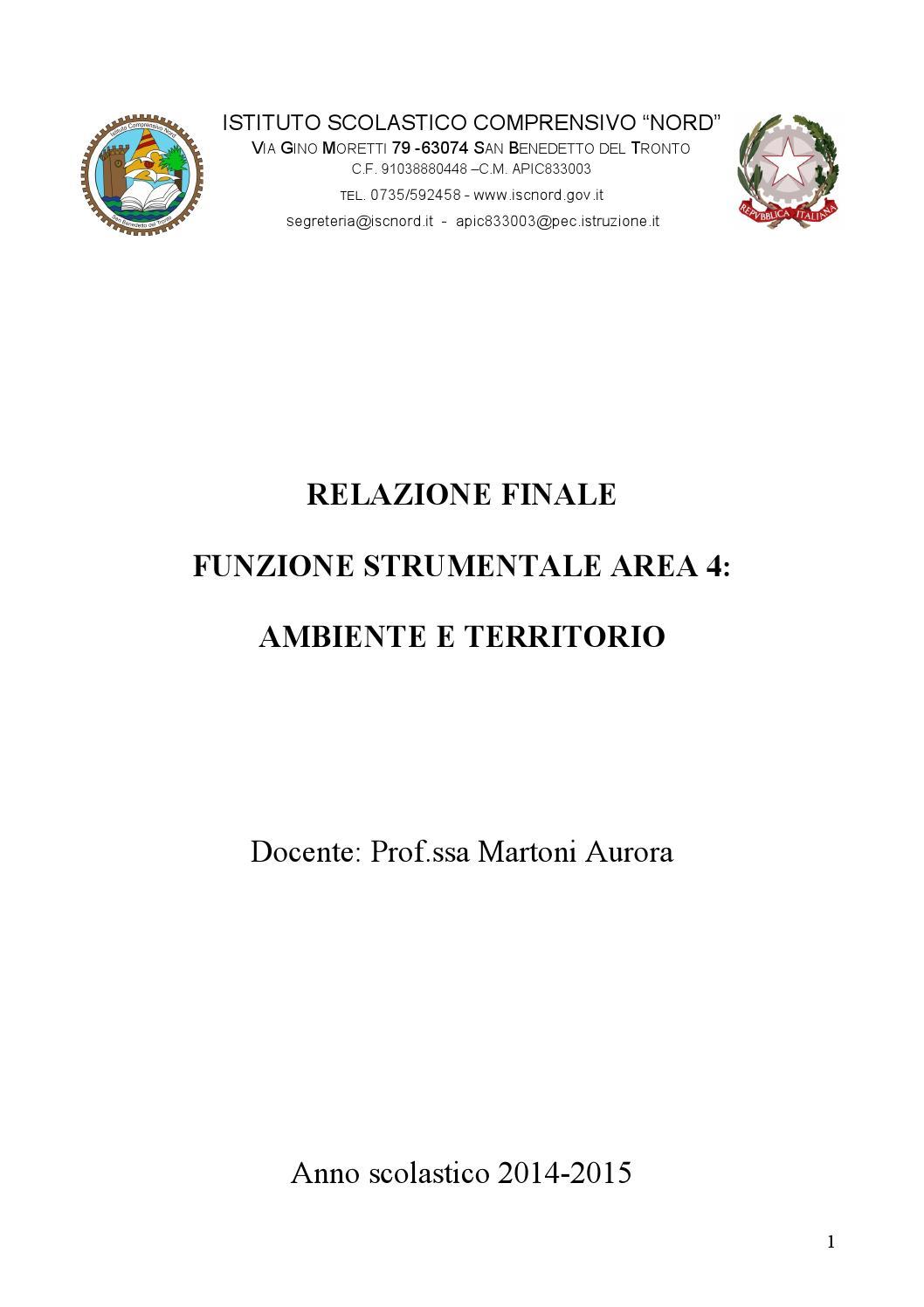 RELAZIONE FINALE - Scuola Pirandello Comiso