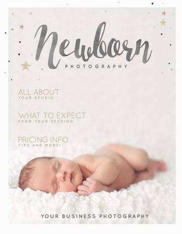 PG016 Newborn Photography Magazine Template by Paper Lark by Paper ...