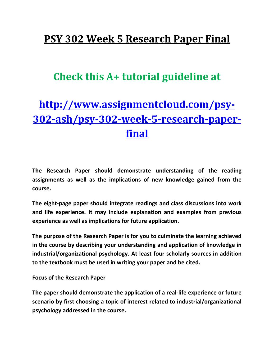 industrial and organizational pyschology term paper essay Industrial and organizational pyschology term paper  topics: academic  job analysis is a fundamental part of the practice of industrial/organizational psychology analyzing a job involves the determination of what tasks make up a job, the tasks' relative importance, and what knowledge, skills, and abilities are necessary to successfully.