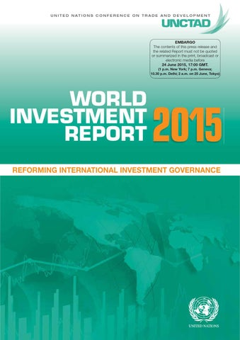 World Investment Report 2015 Reforming International Investment