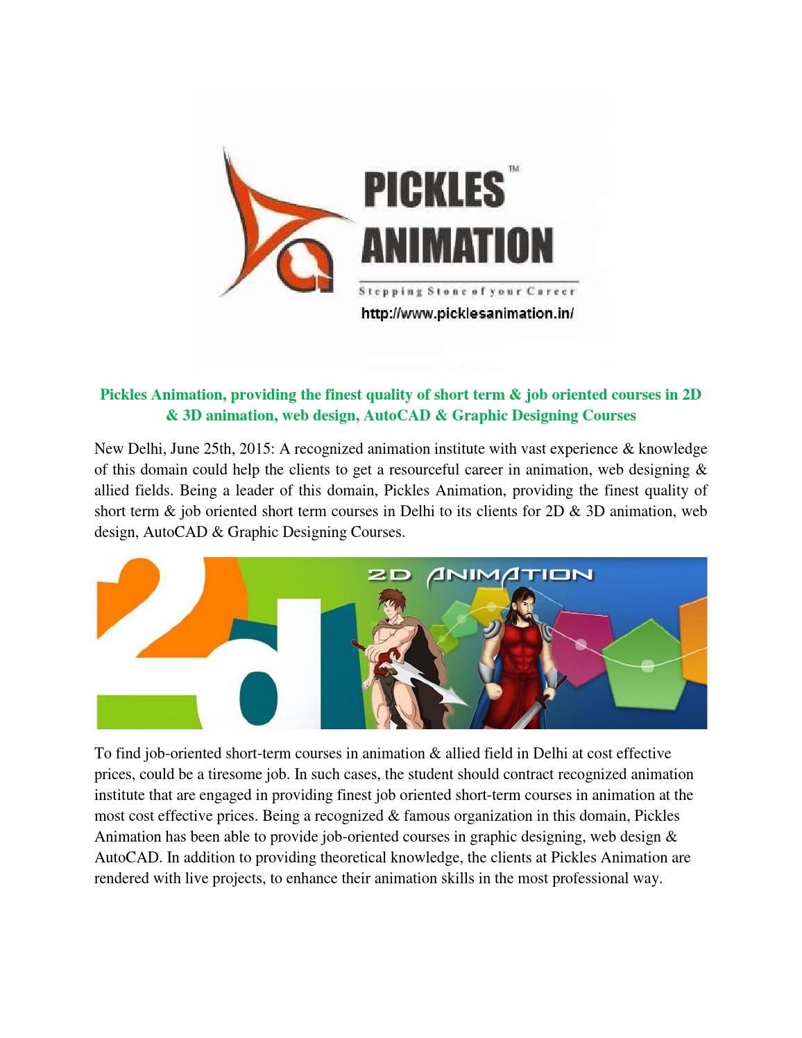 Pickles Animation, providing the finest quality of short ...
