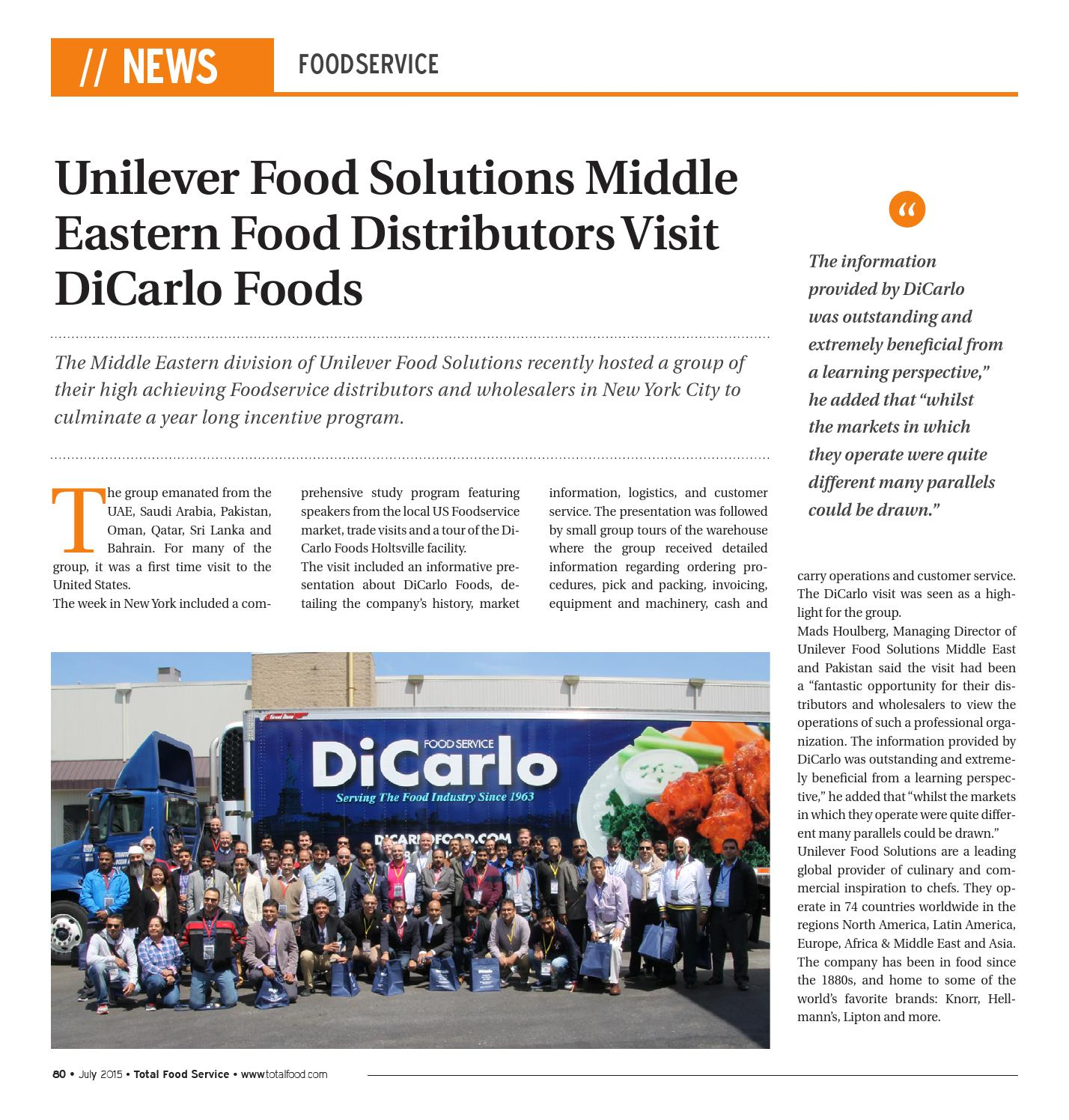 July 2015 by Total Food Service - issuu