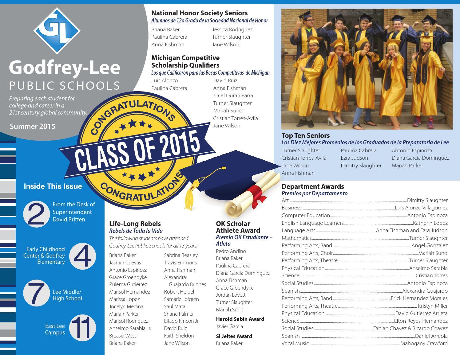 Godfrey Lee Summer Newsletter 2014-15 by Godfrey-Lee Public Schools ...