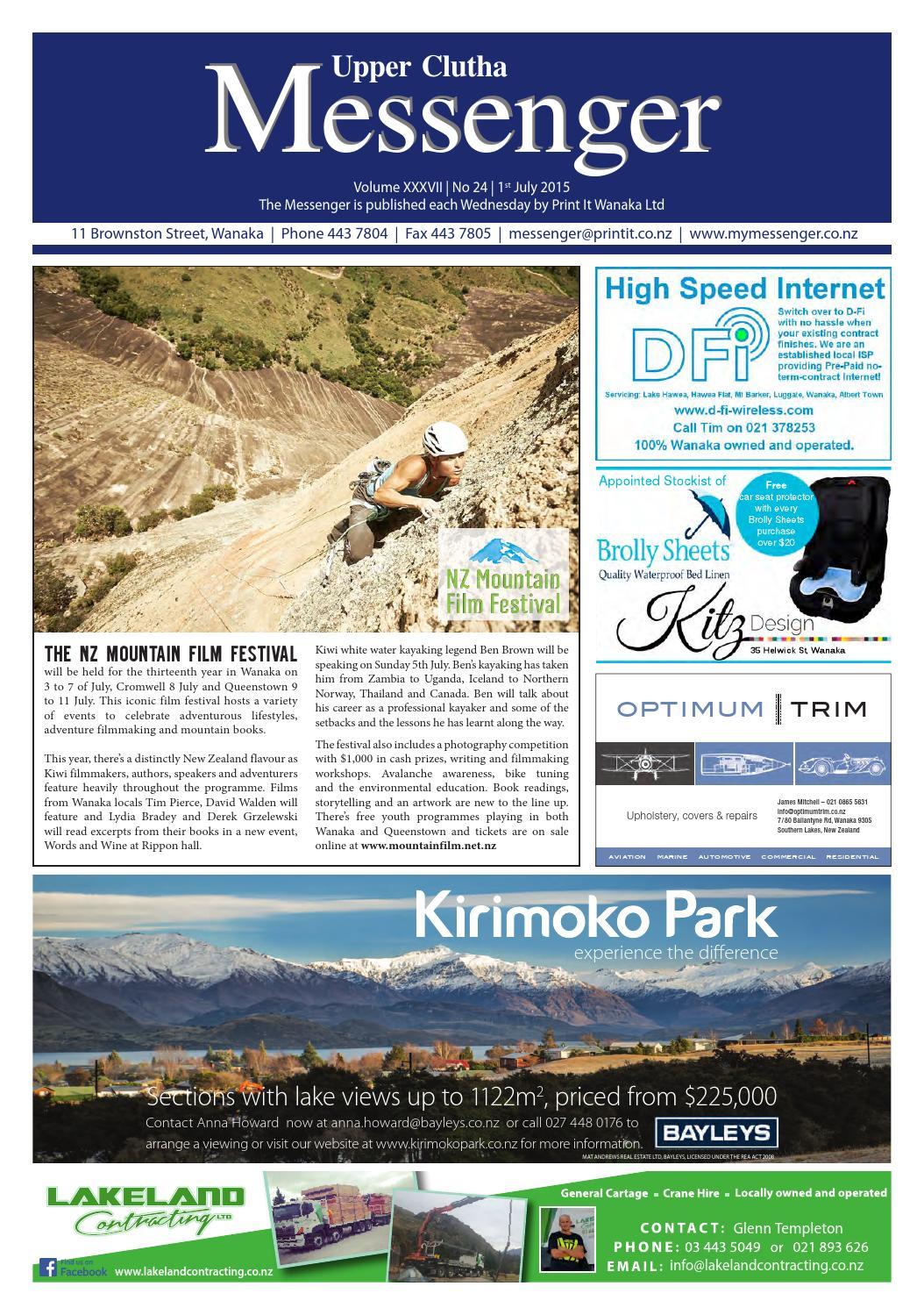 upper clutha messenger 1st july 2015 by print it wanaka ltd issuu