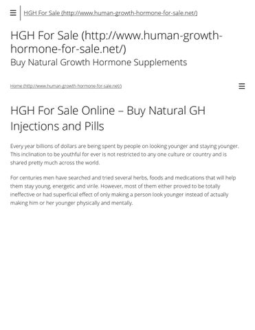 Hgh for sale buy natural gh injections, pills and sprays by
