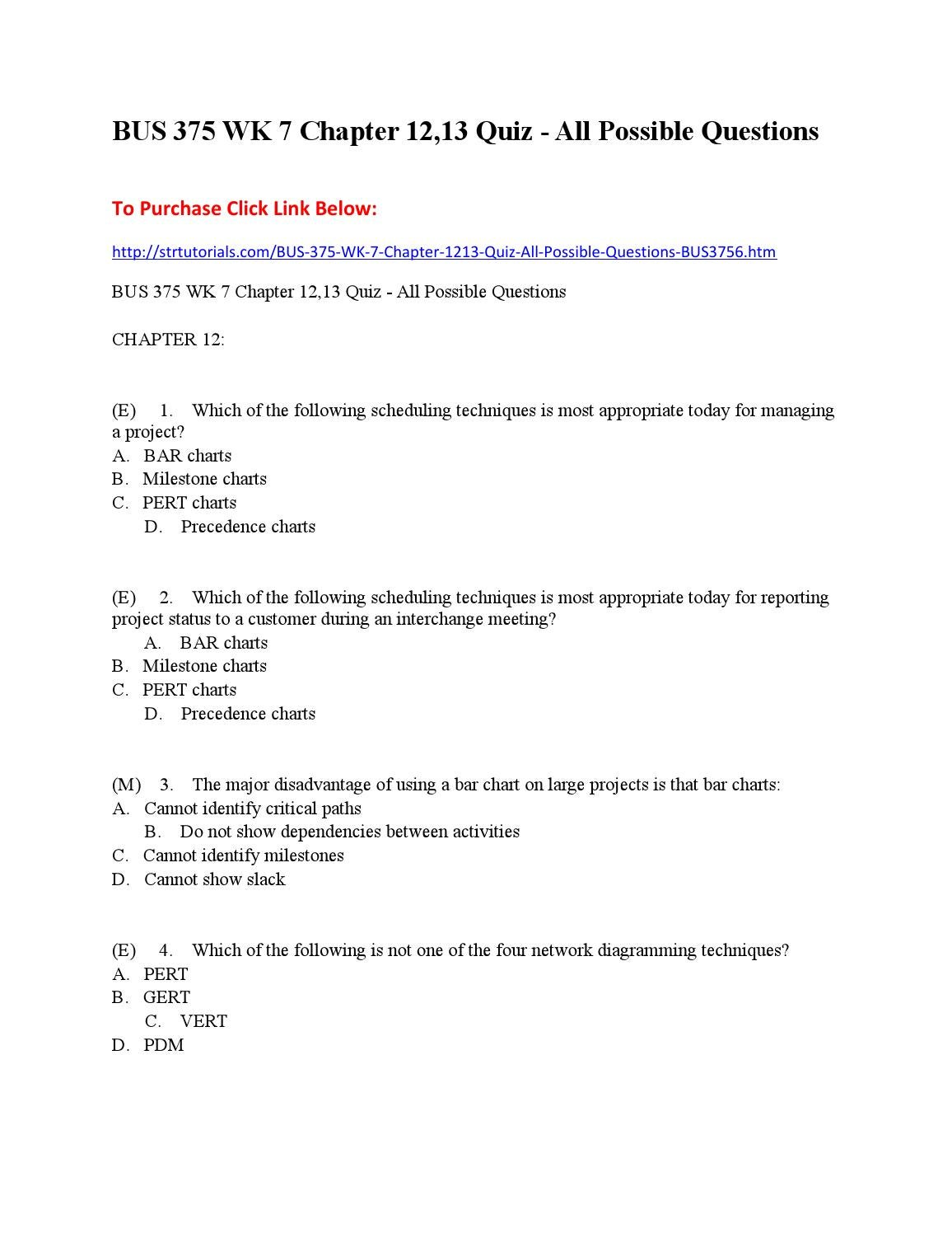 Bus 375 Wk 7 Chapter 12 13 Quiz All Possible Questions By