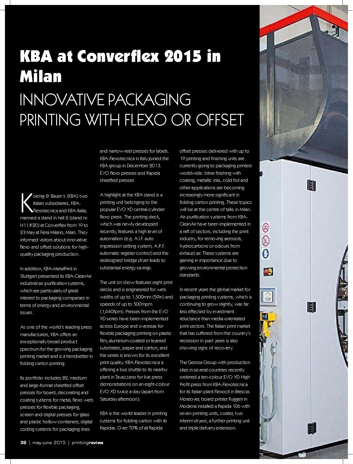 Printing Review, May-June 2015 by Worldwide Publications - issuu