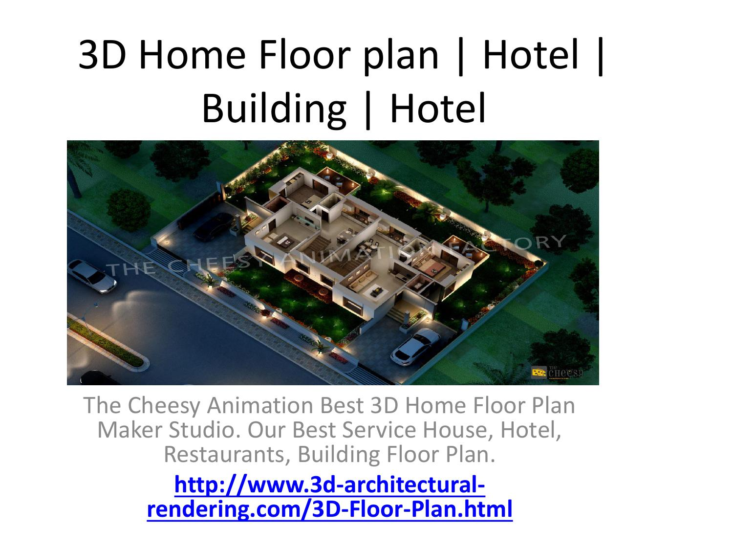 Beau 3D Home Floor Plan | Hotel | Building | Hotel By 3D Architectural Rendering  Companies Dubai   Issuu