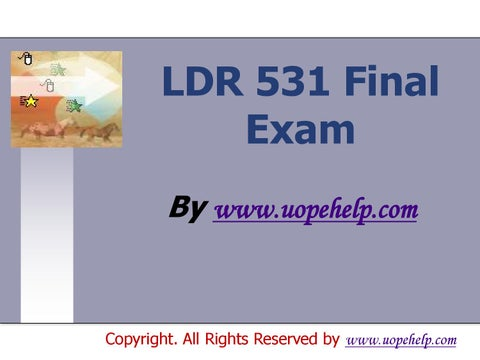UOP STR 581 Week 2 Capstone Final Examination QUESTIONS