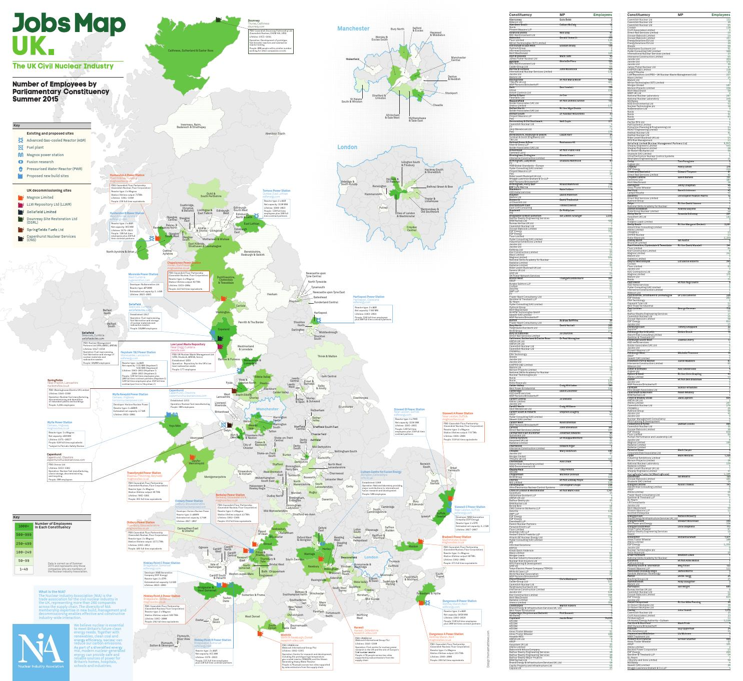 Jobs Map UK 2016 by Nuclear Industry Association issuu