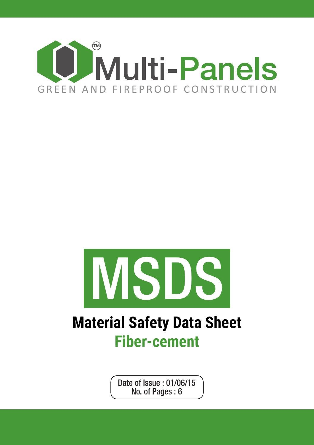Msds Fiber Cement By Multi Panels Corporation Issuu