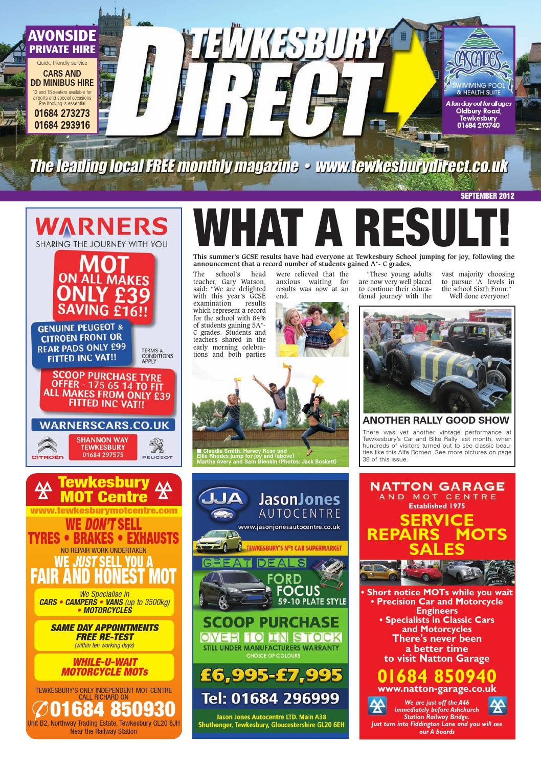 Tewkesbury Direct Magazine September 2012 by Tewkesbury