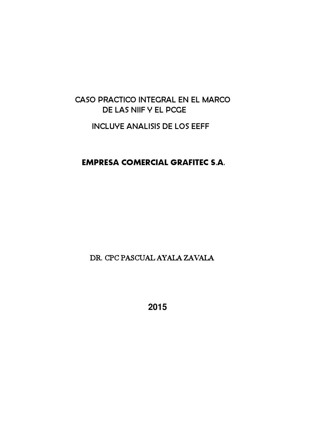 Compra De Utiles De Oficina Asiento Contable.Caso Practico Grafitec S A Completo By Pascual Ayala Issuu