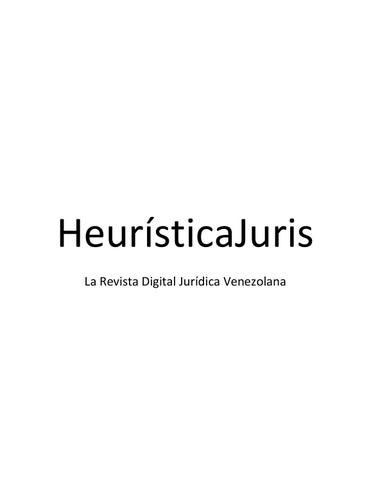 Heuristica Juris Parte 1 by javier nuñez - issuu