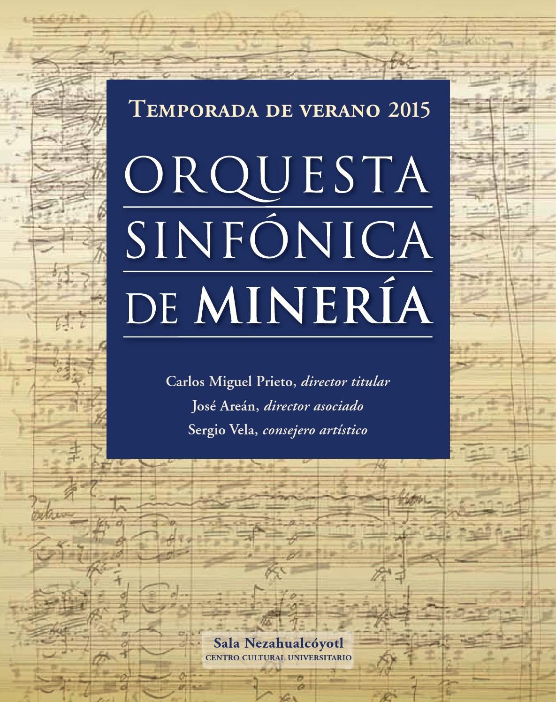 Programa de lujo 2015 by Academia de Música del Palacio de Minería ...