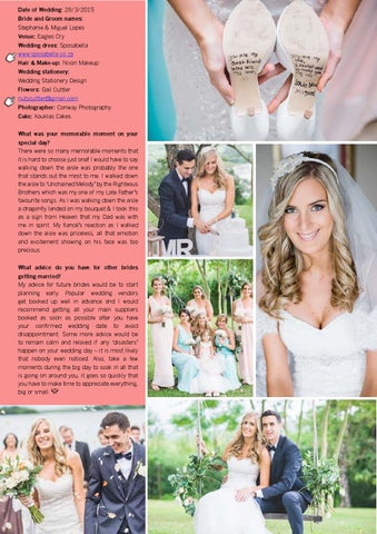 214d05a8e907 Date of Wedding  28 3 2015 Bride and Groom names  Stephanie   Miguel Lopes  Venue  Eagles Cry Wedding dress  Sposabella www.sposabella.co.za Hair    Make-up  ...