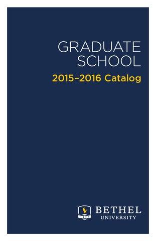 GRADUATE SCHOOL 2015–2016 Catalog