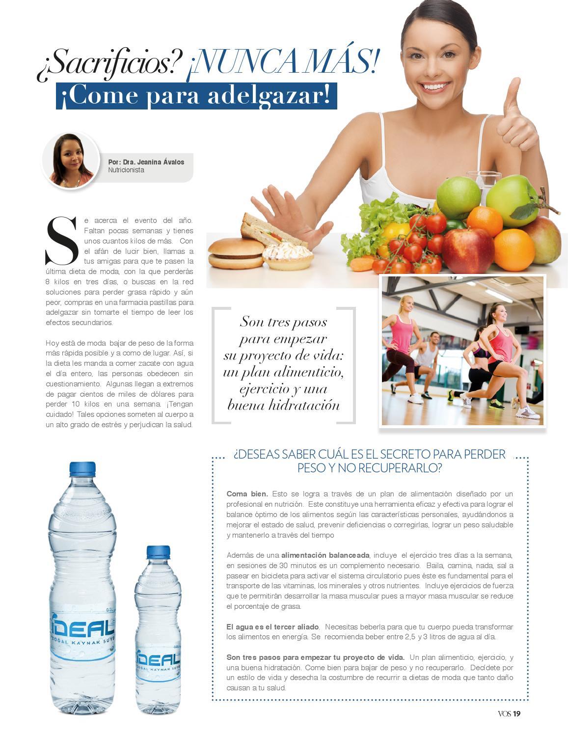 cómo perder peso de agua para un evento