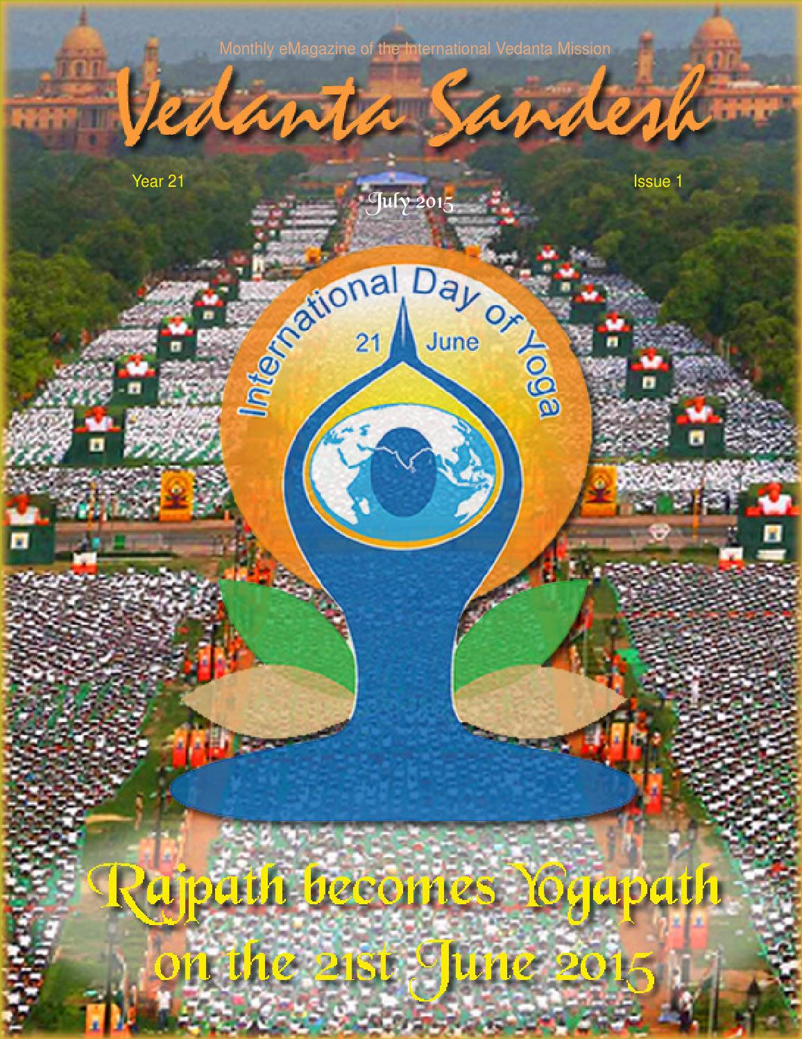 VedantaSandesh July2015 by Vedanta Mission - issuu
