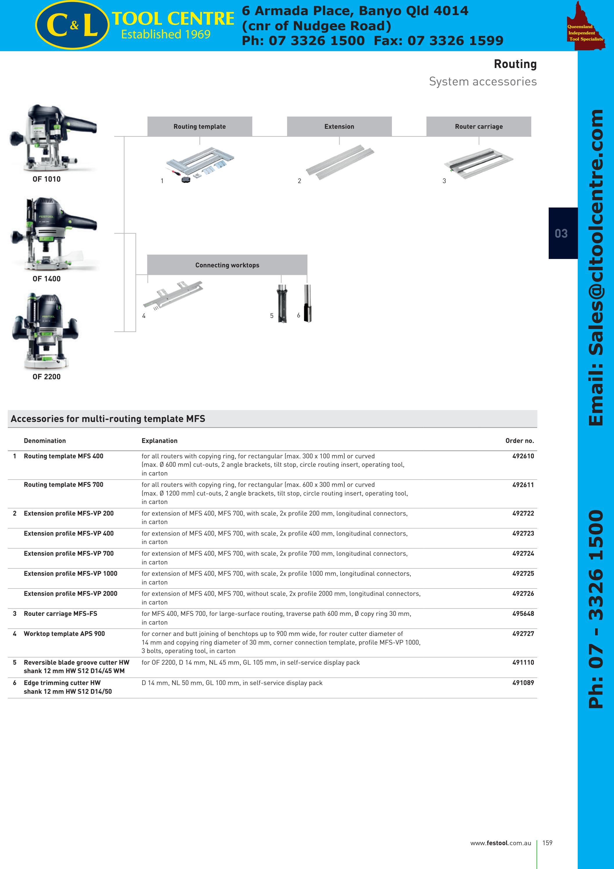 Festool 492724 Extension Profil-MFS-VP 700