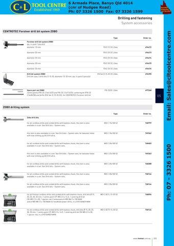/System Zobo FB D 15/ce-Zobo Festool Forstner 496472/