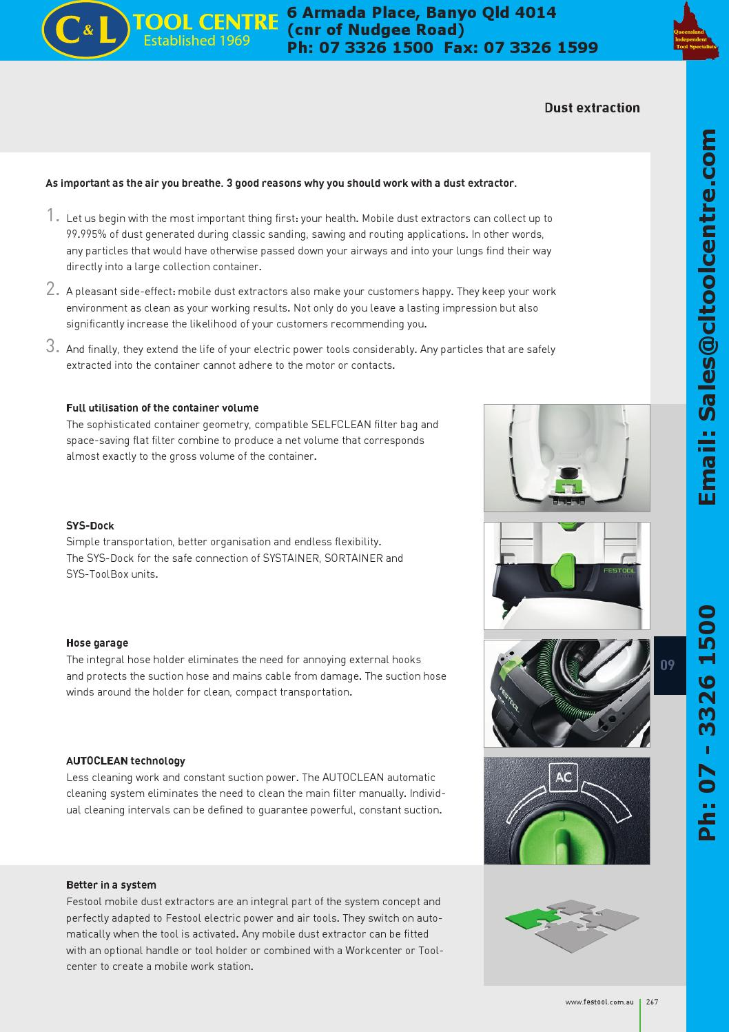 Festool Power Tool Systems & Accessories by C&L Tool Centre