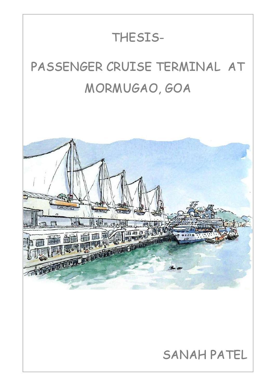 Thesis International Cruise Terminal In Goa Sanah Patel