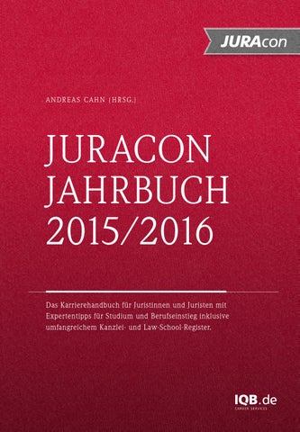 Juracon jahrbuch 2015 2016 issuu 72dpi by IQB Career Services AG - issuu