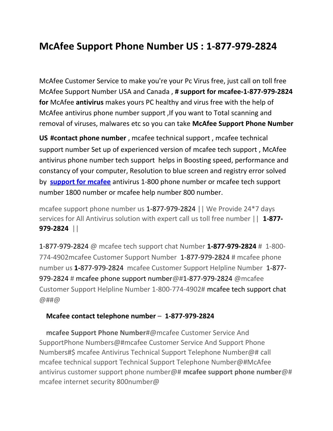 Mcafee support phone number us by Ampin Seth - issuu