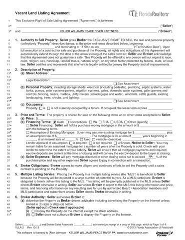 Land Listing Agreement By Alan Johnson Issuu
