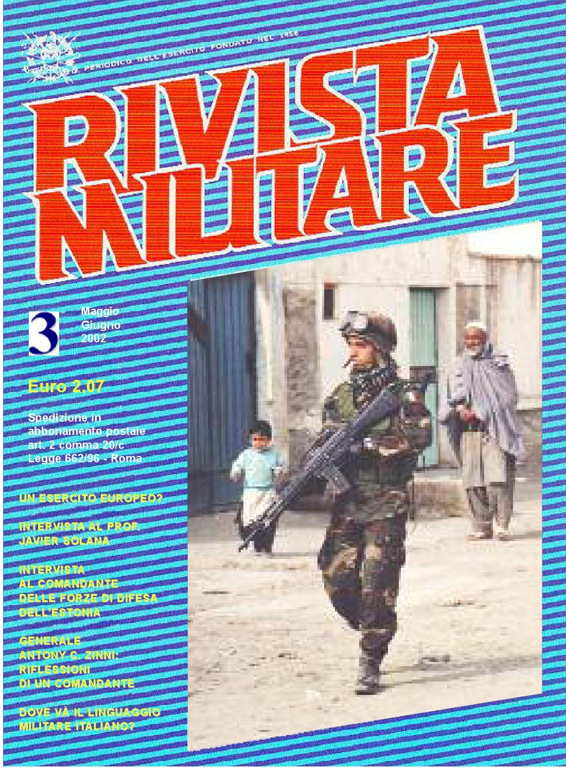 RIVISTA MILITARE 2002 N.3 by Biblioteca Militare - issuu db5a52aeef48