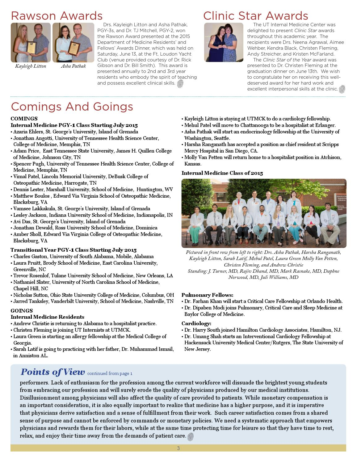 In Touch: News from The UTGSM's Department of Medicine, July