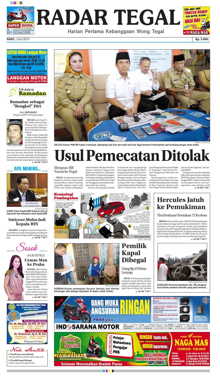 Radar Tegal 1 Juli 2015 Produk Ukm Bumn Batik Lengan Panjang Parang Toko Ngremboko