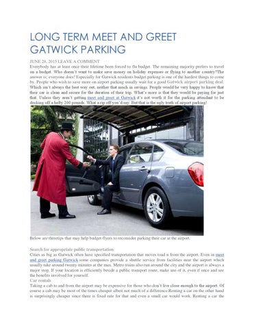 Long term meet and greet gatwick parking by easy meet and greet issuu long term meet and greet gatwick parking june 28 2015 leave a comment everybody has at least once their lifetime been forced to flu budget m4hsunfo