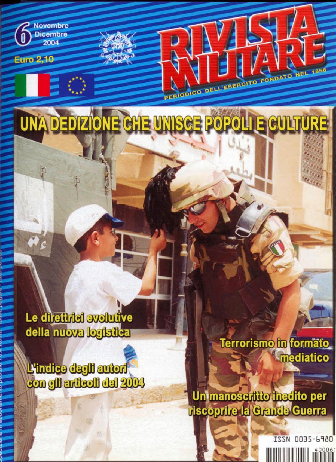 RIVISTA MILITARE 2004 N.6 by Biblioteca Militare - issuu 4ffb8def8729