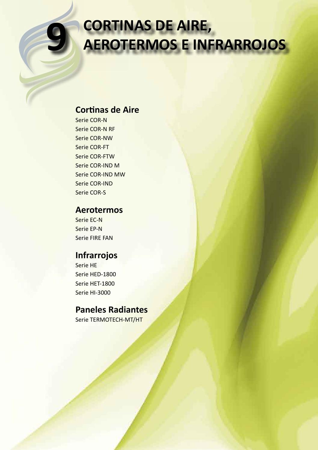 Tarifa fanair 2015 ventilaci n cortinas de aire aerotermos e infrarrojos by fanair s l issuu - Cortinas de aire caliente ...