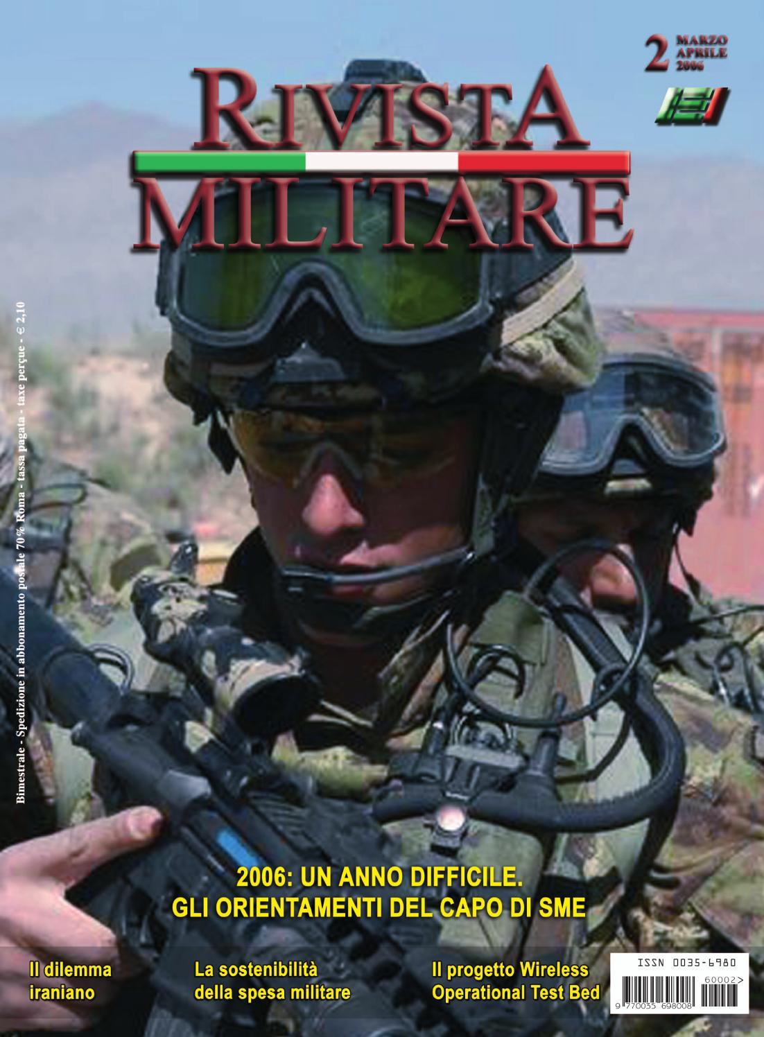 RIVISTA MILITARE 2006 N.2 by Biblioteca Militare - issuu 7ac484eb6a7a