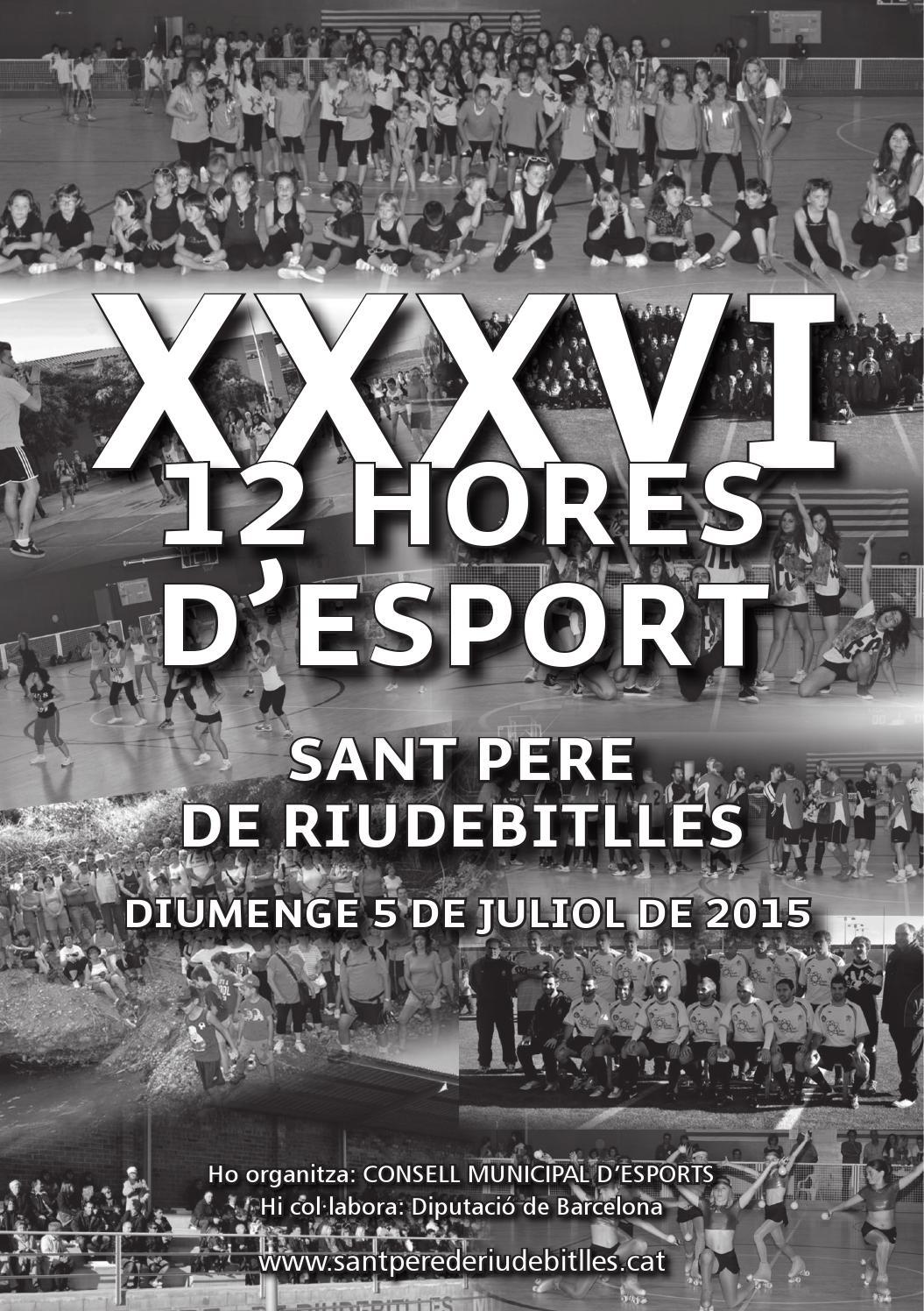 Programa 12 Hores Esport 2015 By Ajuntament De Sant Pere De