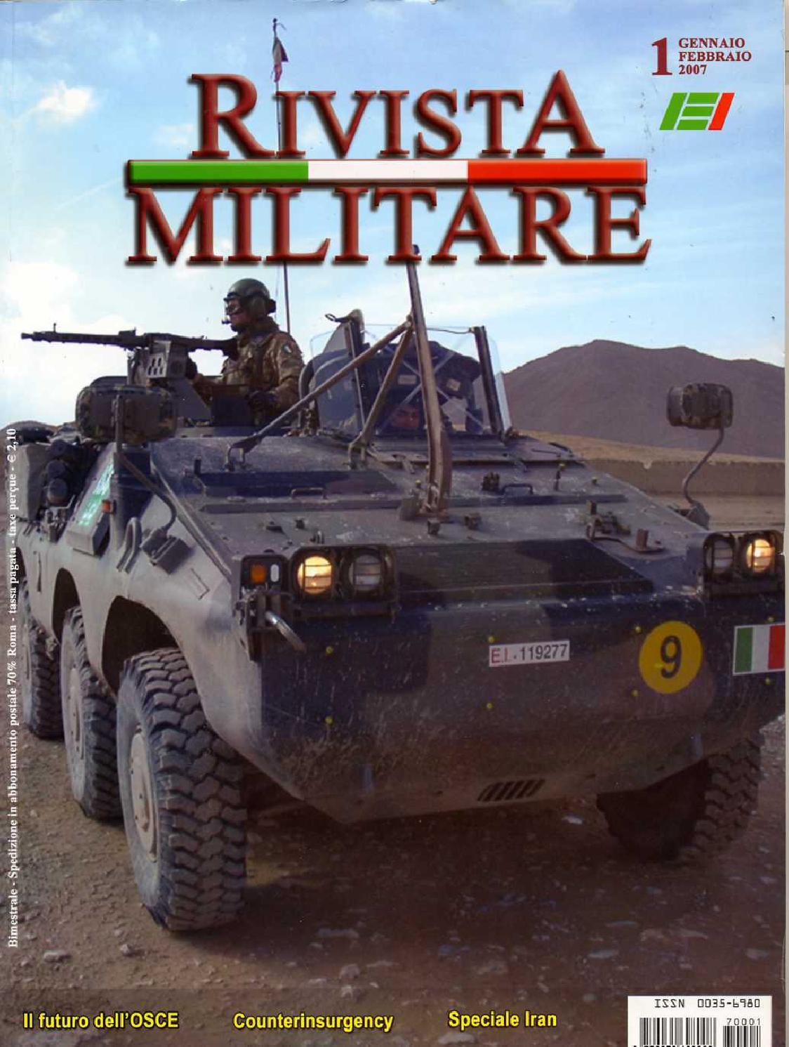 RIVISTA MILITARE 2007 N.1 by Biblioteca Militare - issuu 8d326142c0c9